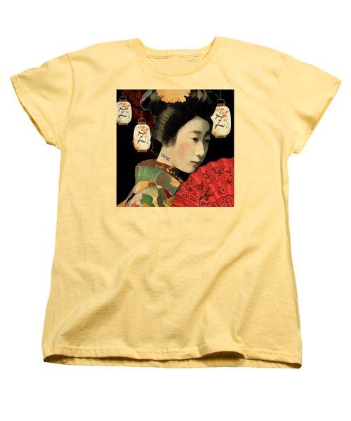 Women's T-Shirt (Standard Cut) featuring the digital art Lady Dragonfly by Lisa Noneman