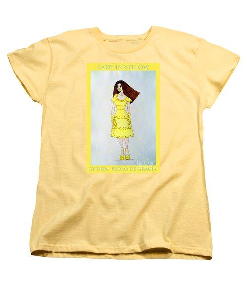 Lady In Yellow Women's T-Shirt (Standard Cut) by Don Pedro De Gracia