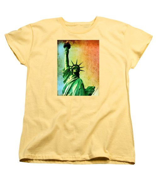 Lady Liberty Women's T-Shirt (Standard Cut) by Denise Tomasura