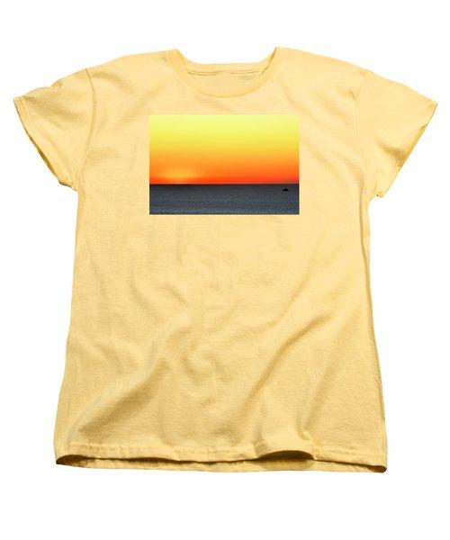 Women's T-Shirt (Standard Cut) featuring the photograph Lake Michigan Sunrise by Zawhaus Photography