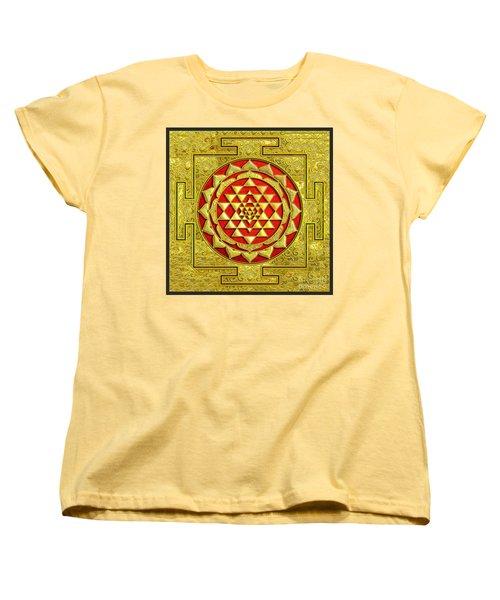 Lakshmi Kubera Yantra Women's T-Shirt (Standard Cut) by Ragunath Venkatraman