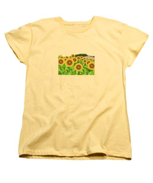Land Of Sunflowers. Women's T-Shirt (Standard Cut)