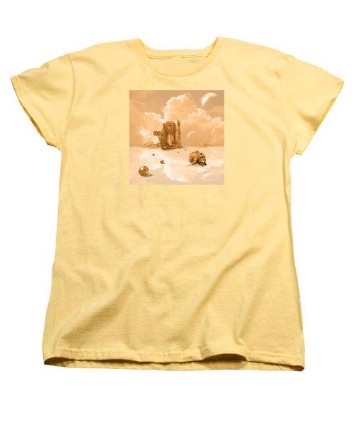 Women's T-Shirt (Standard Cut) featuring the digital art Landscape With Shell by Alexa Szlavics