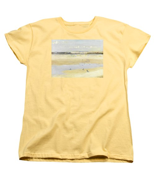 Lapwings By The Sea Women's T-Shirt (Standard Cut) by William James Laidlay
