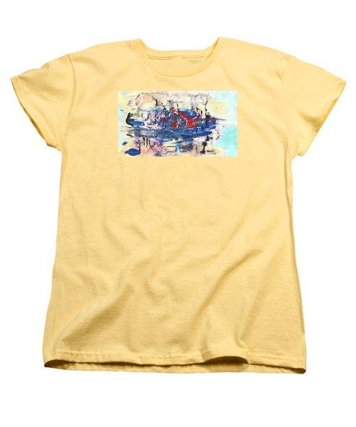 Laziness - Large Bright Pastel Abstract Art Women's T-Shirt (Standard Cut) by Modern Art Prints