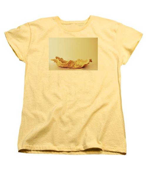 Leaf Plate2 Women's T-Shirt (Standard Cut) by Itzhak Richter
