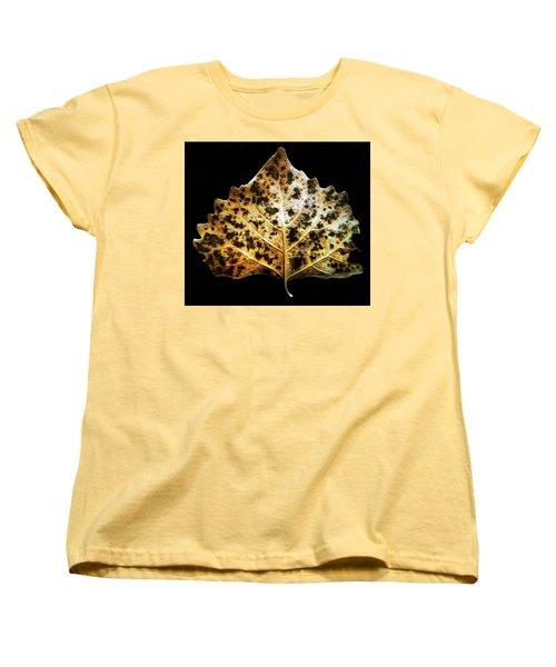 Leaf With Green Spots Women's T-Shirt (Standard Cut) by Joseph Frank Baraba