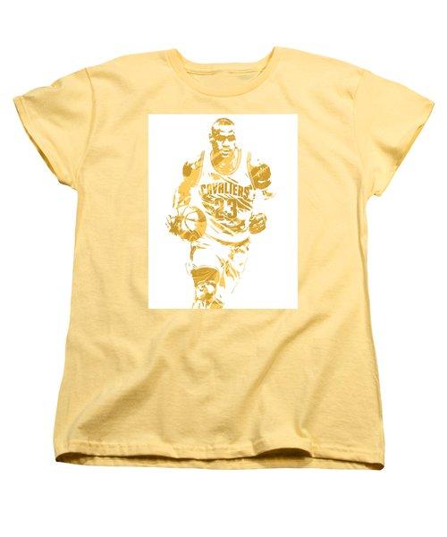Lebron James Cleveland Cavaliers Pixel Art 7 Women's T-Shirt (Standard Cut)