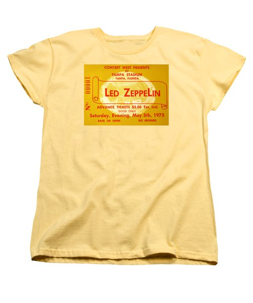Led Zeppelin Ticket Women's T-Shirt (Standard Cut) by David Lee Thompson