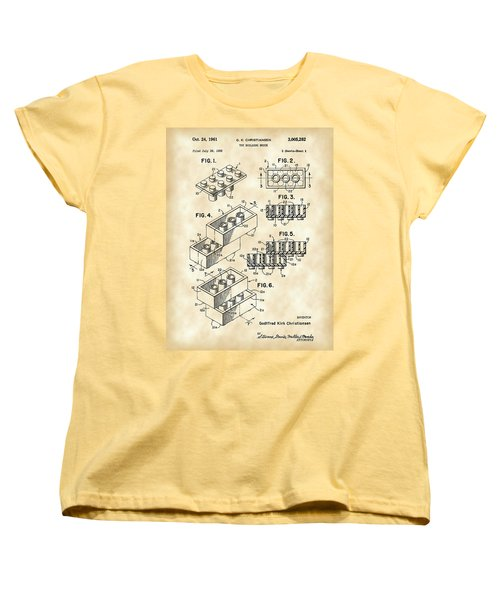 Lego Patent 1958 - Vintage Women's T-Shirt (Standard Cut) by Stephen Younts