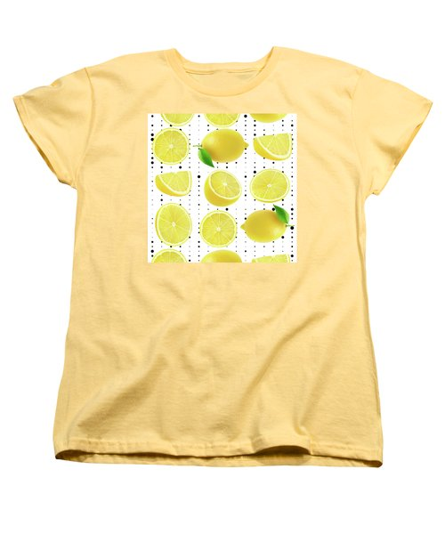 Lemon  Women's T-Shirt (Standard Cut) by Mark Ashkenazi