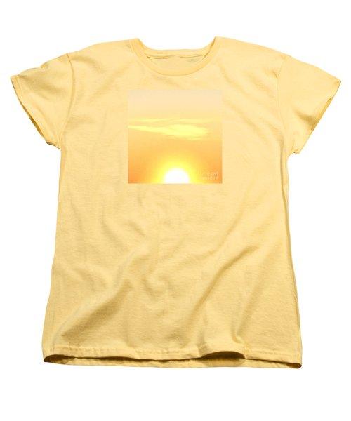 Lemon Meringue Sky Women's T-Shirt (Standard Cut) by Patricia E Sundik