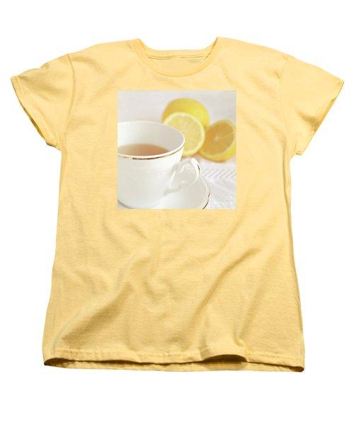 Women's T-Shirt (Standard Cut) featuring the photograph Lemon Tea by Lyn Randle