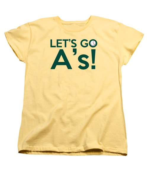 Let's Go A's Women's T-Shirt (Standard Cut) by Florian Rodarte