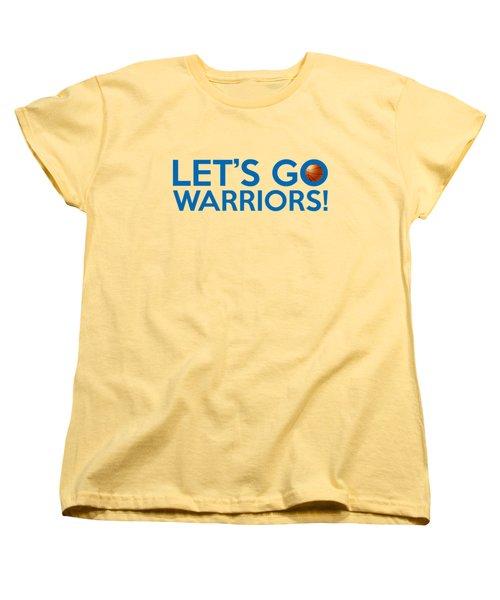 Let's Go Warriors Women's T-Shirt (Standard Cut) by Florian Rodarte