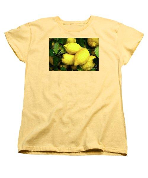 Life Gives You Lemons Women's T-Shirt (Standard Cut) by Sandy Molinaro