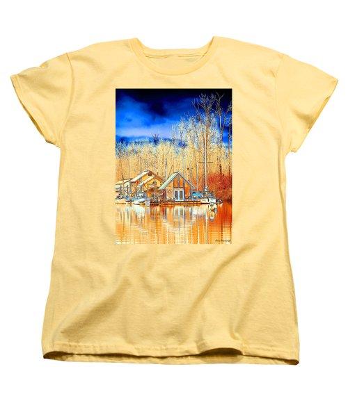 Life On The River Women's T-Shirt (Standard Cut) by Steve Warnstaff
