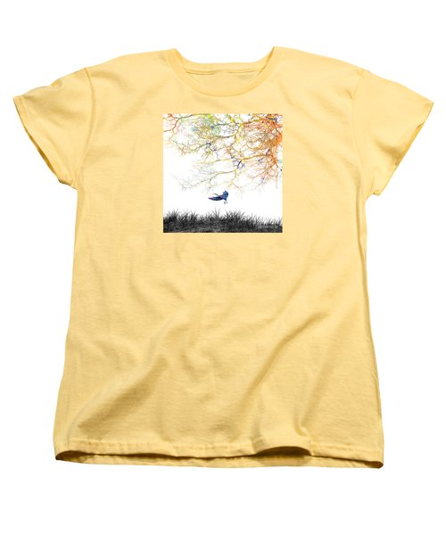 Women's T-Shirt (Standard Cut) featuring the painting Lift Off by Trilby Cole