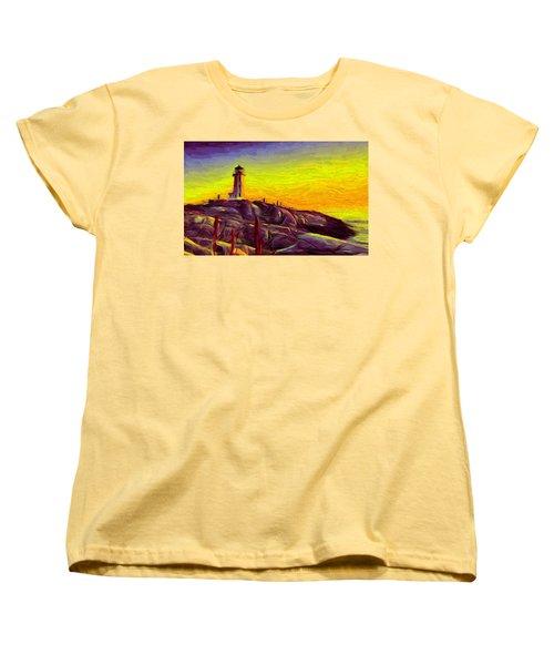 Lighthouse Sunset Women's T-Shirt (Standard Cut) by Caito Junqueira