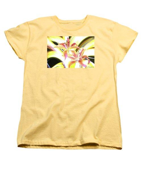 Lily Burst Women's T-Shirt (Standard Cut) by Andrew Nourse