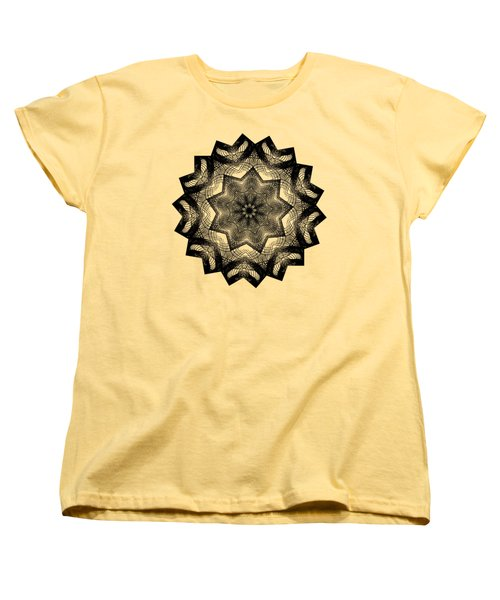 Lines In A Star By Kaye Menner Women's T-Shirt (Standard Cut) by Kaye Menner
