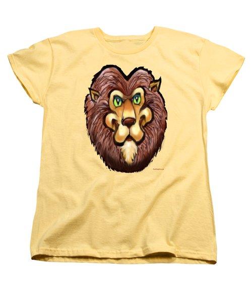 Lion Women's T-Shirt (Standard Cut) by Kevin Middleton