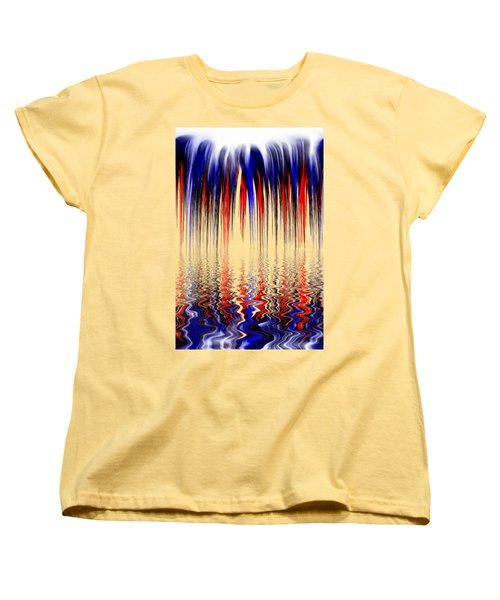 Liquid Overflow By Kaye Menner Women's T-Shirt (Standard Cut) by Kaye Menner