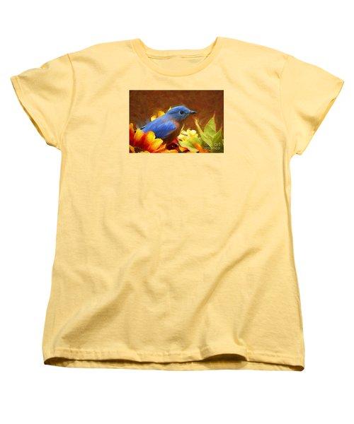 Little Boy Blue Women's T-Shirt (Standard Cut) by Tina  LeCour