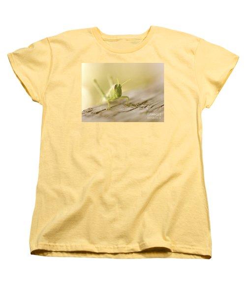 Little Grasshopper Women's T-Shirt (Standard Cut) by Claudia Ellis