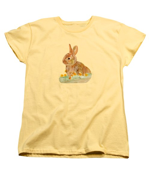Little Rabbit Women's T-Shirt (Standard Cut) by Angeles M Pomata
