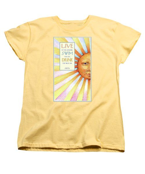 Live In The Sunshine Women's T-Shirt (Standard Cut)