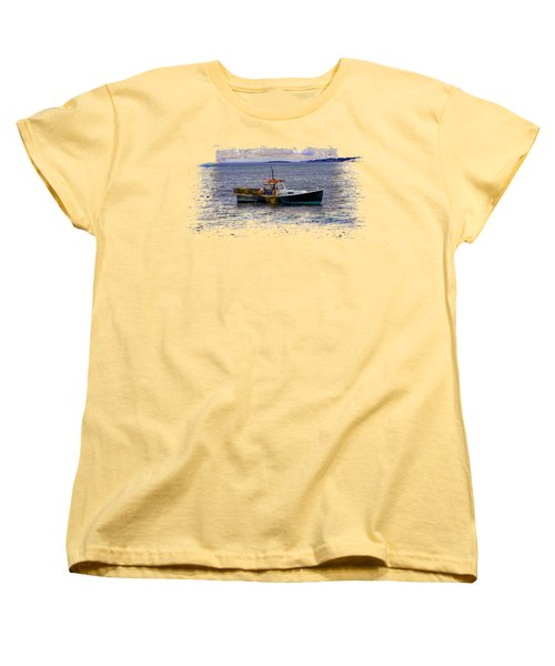 Lobstermen Women's T-Shirt (Standard Cut) by John M Bailey