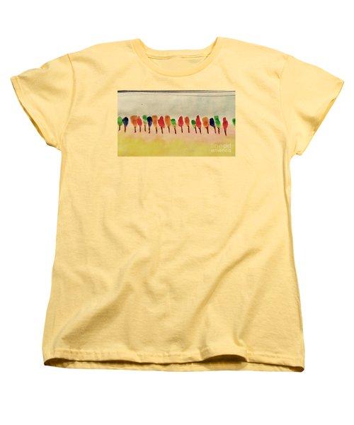 Lollipop Trees Women's T-Shirt (Standard Cut) by Kim Nelson