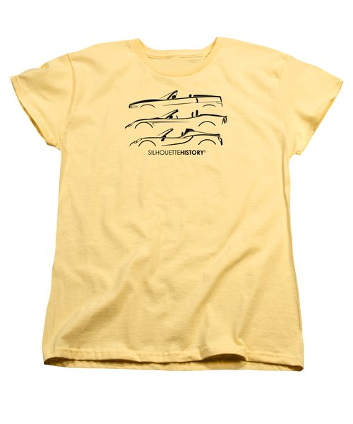 Lombard Roadster Silhouettehistory Women's T-Shirt (Standard Cut) by Gabor Vida