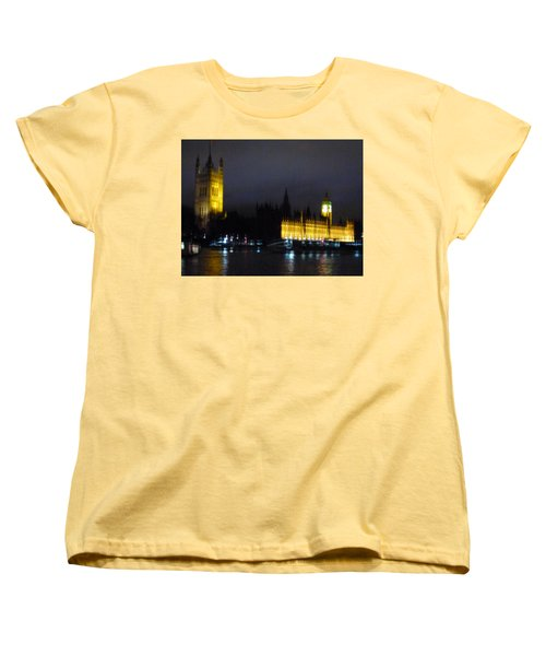 Women's T-Shirt (Standard Cut) featuring the photograph London Late Night by Christin Brodie