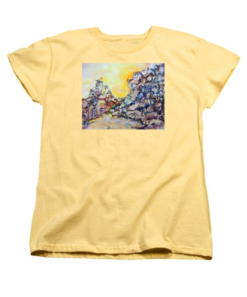 Lonely Flower Women's T-Shirt (Standard Cut) by Mary Schiros