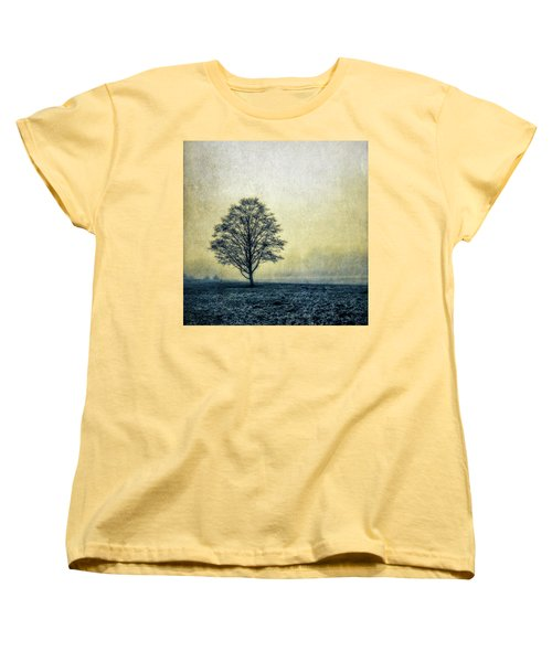 Women's T-Shirt (Standard Cut) featuring the photograph Lonely Tree by Marion McCristall