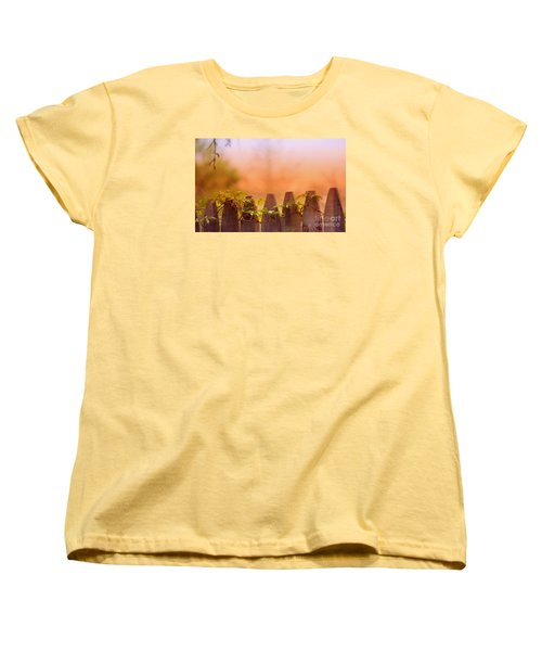 Women's T-Shirt (Standard Cut) featuring the photograph Look Beyond The Boundary by Rima Biswas