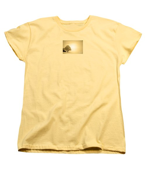 Women's T-Shirt (Standard Cut) featuring the photograph Lost In Snow - Winter In Switzerland by Susanne Van Hulst