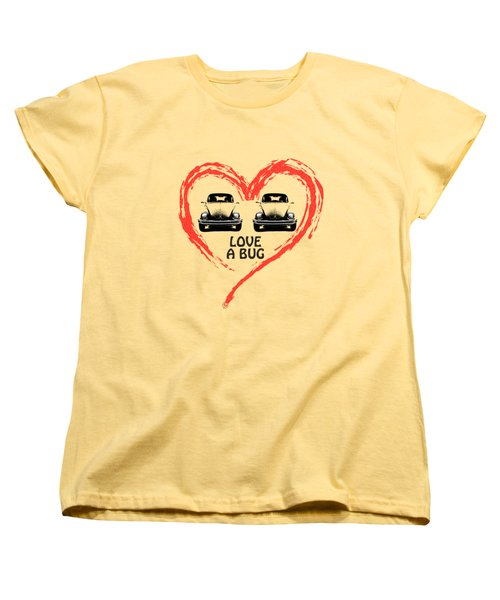 Love A Bug Women's T-Shirt (Standard Cut) by Mark Rogan