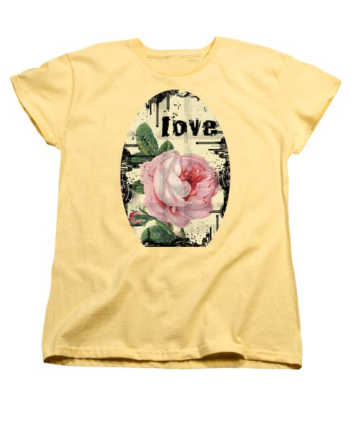 Love Grunge Rose Women's T-Shirt (Standard Cut) by Robert G Kernodle