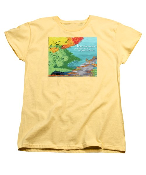 Love Like The Wind Women's T-Shirt (Standard Cut) by Cyrionna The Cyerial Artist