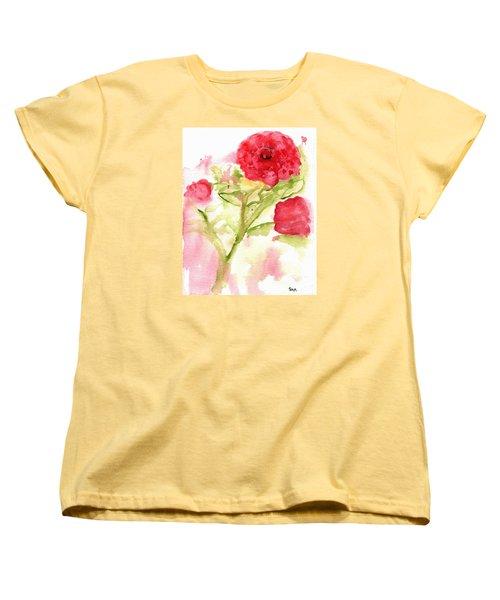 Lucky Rose Women's T-Shirt (Standard Cut) by Sandy McIntire