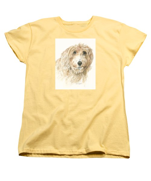 Women's T-Shirt (Standard Cut) featuring the drawing Lucy by Meagan  Visser