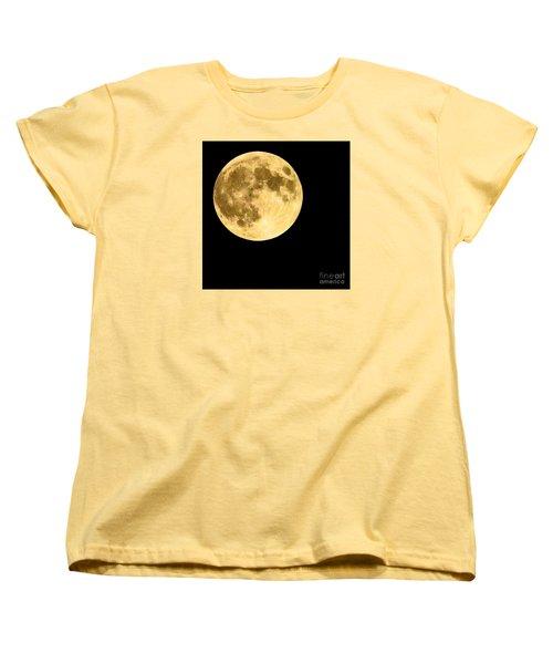 Lunar Close Up Women's T-Shirt (Standard Cut) by Sandy Molinaro