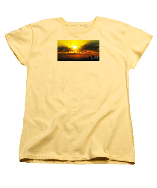 Mahlon Sweet Sunset Women's T-Shirt (Standard Cut) by Mindy Bench