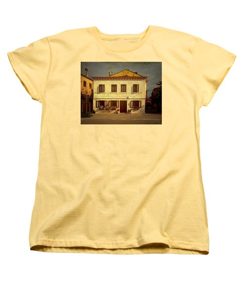 Women's T-Shirt (Standard Cut) featuring the photograph Malamocco House No1 by Anne Kotan