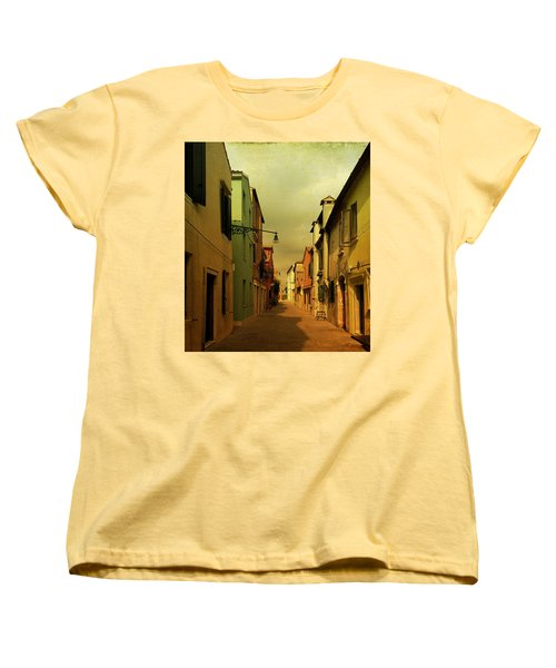 Women's T-Shirt (Standard Cut) featuring the photograph Malamocco Perspective No1 by Anne Kotan
