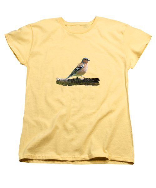 Women's T-Shirt (Standard Cut) featuring the photograph Male Chaffinch, Transparent Background by Paul Gulliver