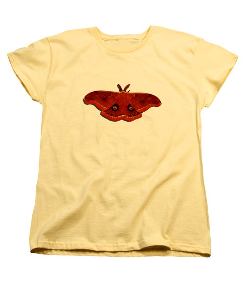 Women's T-Shirt (Standard Cut) featuring the photograph Male Moth Red .png by Al Powell Photography USA